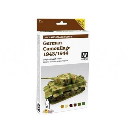 Armour Acrylic Model Air Paint Set - German Camouflage 1943-44 6 - Frikland