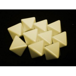 Opaque Polyhedral Ivory Blank 6-sided dice (1)