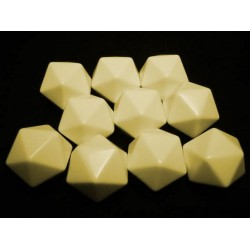 Opaque Polyhedral Ivory Blank 12-sided dice (1)