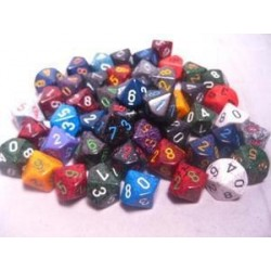 Bag of 50 Asst. Loose Speckled Polyhedral d8 Dice
