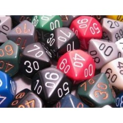Bag of 50 Asst. Loose Opaque Poly. Tens 10™ Dice