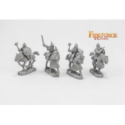 Senior Druzhina mixed weapons (4 mounted resin figures)