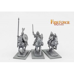 Russian Chernyeklobuki Command (3 mounted resin figures)