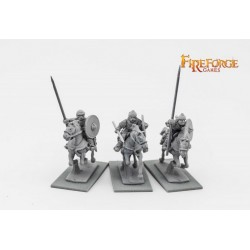 Russian Chernyeklobuki Lancers (3 mounted resin figures)