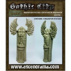 Estatuas De Monje Leyendo