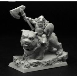 28mm/30mm Goblin Chief on Dog
