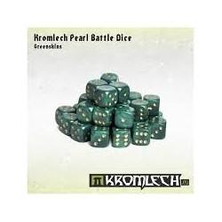 Kromlech Pearl Battle Dice - Greenskins