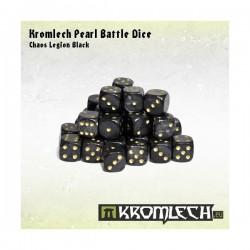 Kromlech Pearl Battle Dice - Chaos Legion Black