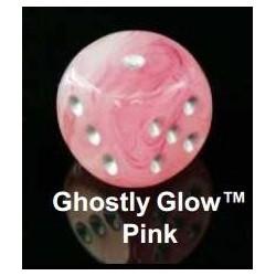 Ghostly Glow Polyhedral Orange/Yellow 7-Die