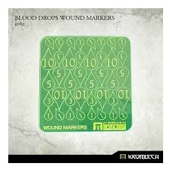 BLOOD DROPS WOUND MARKERS GREEN
