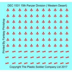 15mm Desert Decal Set 21st Panzer Division Western Desert