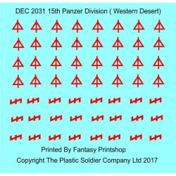 1/72nd Desert Decal Set 21st Panzer Division Western Desert