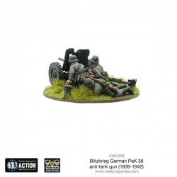 BLITZKRIEG GERMAN PAK 36 ANTI-TANK GUN (METAL BLISTER PACK)
