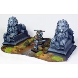 Estatuas de león