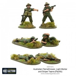 AUSTRALIAN FLAMETHROWER LIGHT MORTAR AND SNIPER