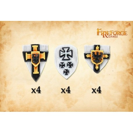 The Order of Jerusalem shields