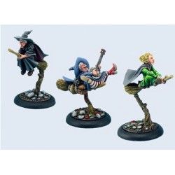 Discworld Miniature Three Witches on brooms (3)