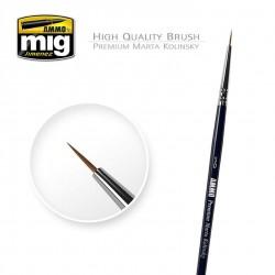 5/0 Premium Marta Kolinsky round brush