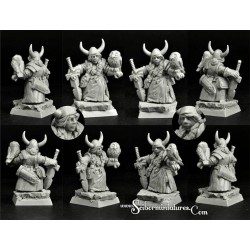 28mm/30mm Dwarf Lord on War Bear 4