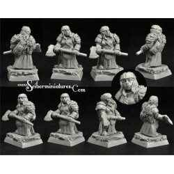 28mm/30mm Dwarf Female Angwyn