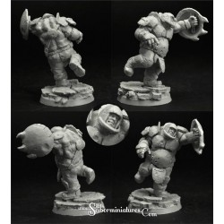 28mm/30mm Ogre Football Player 4