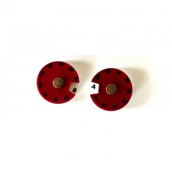 2 SIMPLE DIALS - RED