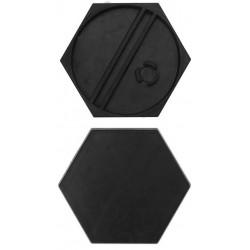 10 bases redondas 25mm con anclaje para imán