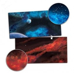 Gaming Mat - Frozen Planet / Crimson Gas Cloud
