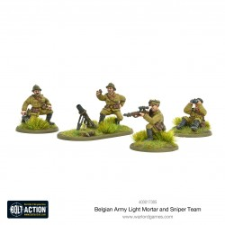 BELGIAN ARMY LIGHT MORTAR AND SNIPER TEAMS