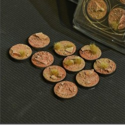 Badlands Bases Round 25mm (x10)