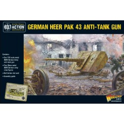 GERMAN HEER PAK 43 ANTI TANK GUN