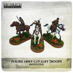 POLISH ARMY CAVALRY TROOP ON HORSES (3)