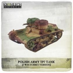 POLISH ARMY TWIN TURRET 7TP TANK
