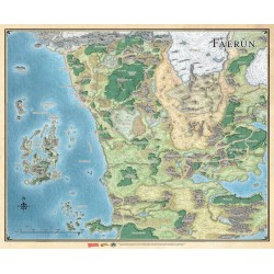 "Faerûn. Realm and Sword Coast Map (27"" x 32"")"