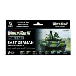 WWIII Paint Set East German Armour & Infantry