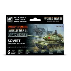 WWII Paint Set Soviet Armour & Infantry