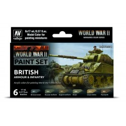 WWII Paint Set British Armour & Infantry