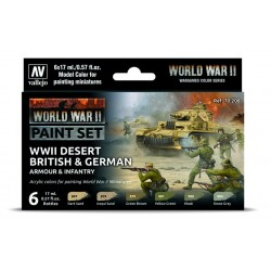 WWII Paint Set Desert British & German Armour & Infantry