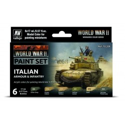 WWII Paint Set Italian Armour & Infantry