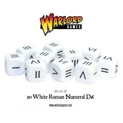 WHITE ROMAN NUMERAL D6 (10)