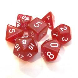 Set Dados Rol - Rojo brilloso