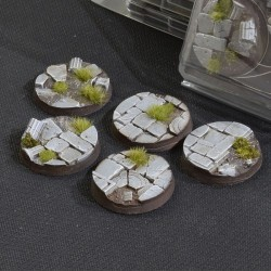 Temple Bases, Round 40mm (x5)