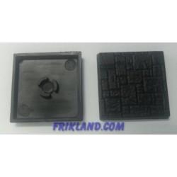 10 bases cuadradas adoquines de 25mm con anclaje para imán