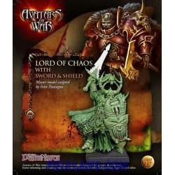 Señor del Caos con espada y escudo