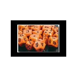 Speckled 12mm d6 Fire (36 Dice)