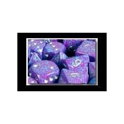 Speckled 16mm d6 Silver Tetra (12 Dice)