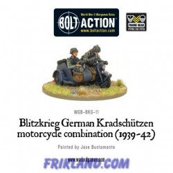 BLITZKRIEG GERMAN KRADSCHUTZEN MOTORCYCLE COMBIATION