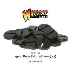 25MM ROUNDSLOTTED BASES (20)