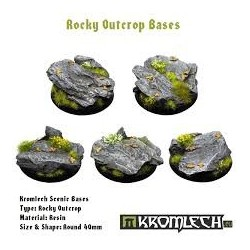 ROCKY OUTCROP BASES, ROUND 40MM