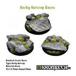 ROCKY OUTCROP BASES, ROUND 50MM
